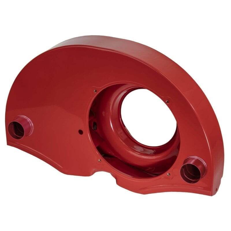 Doghouse Fan Shroud with Air Ducts - Red Powder Coating