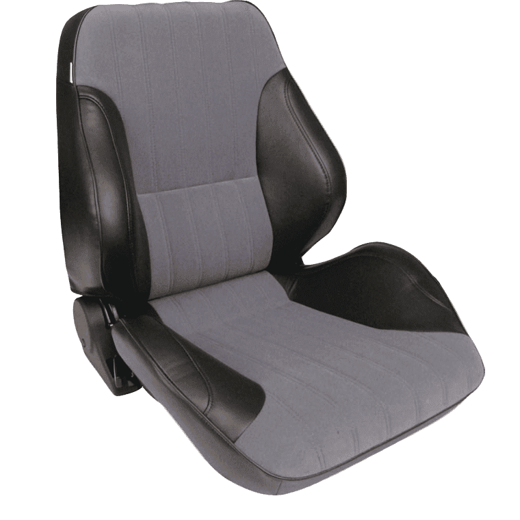 Rally® Lowback™ - Black Vinyl Sides with Grey Velour Insert