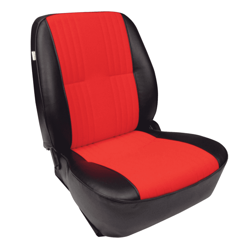 Pro-90® Lowback - Black Vinyl Trim with Red Velour Insert