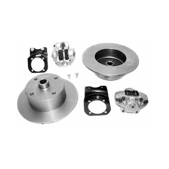 Rear Disc Brake Kit with Emergency Brake for 4-Lug Type 1 Swing Axle I.R.S. (68-72)