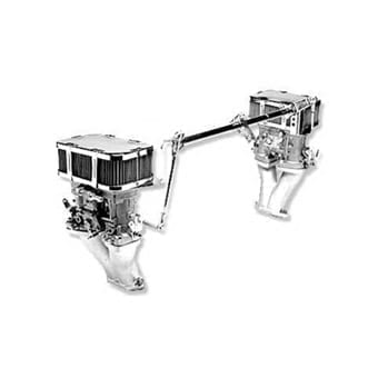 Weber Dual 48 IDF, Linkage, Type I Carburetor Kit with Air Cleaners