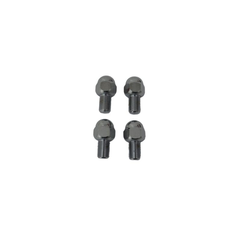 Chrome Acorn Style Lug Bolts, 14mm X 1.5mm, 4-Piece Set
