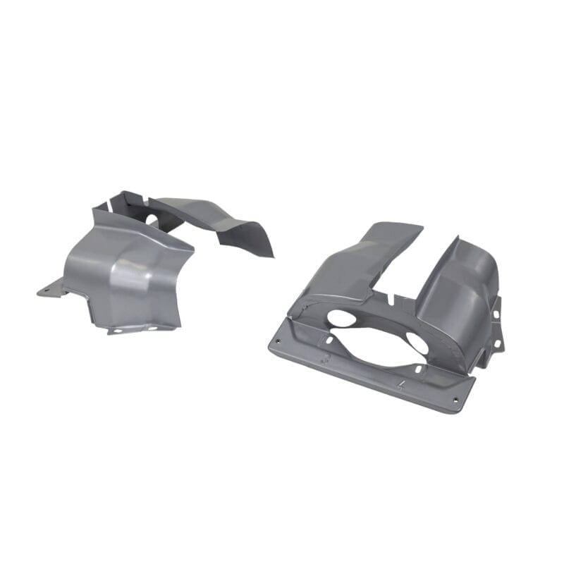 Cylinder Covers Dual-Port - Porsche Silver Powder Coating