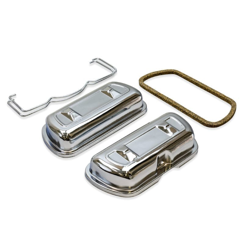 SCAT Chrome Steel Valve Covers