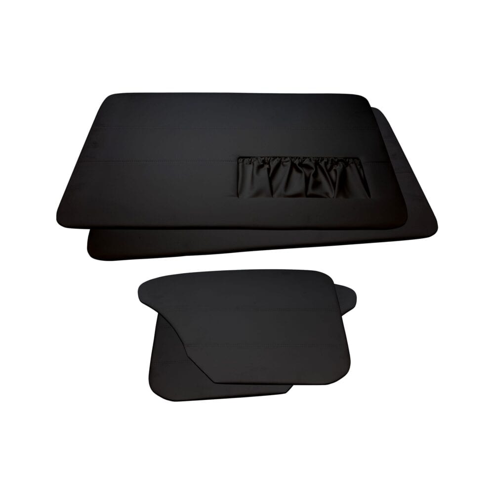 Door Panels - VW '65-'66 Sedan T1 - Black Vinyl