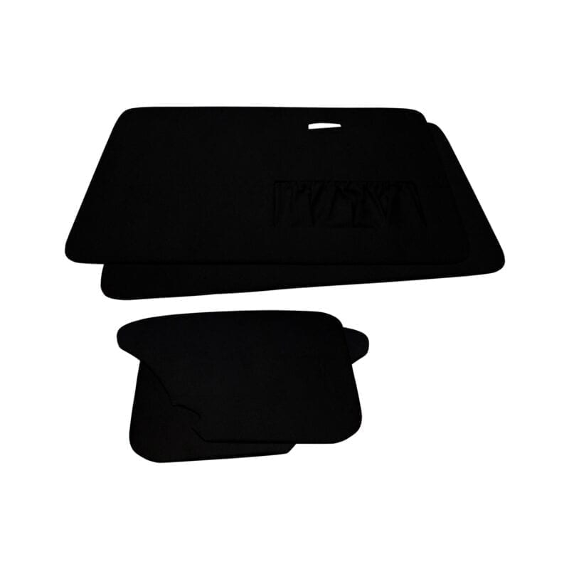 Door Panels - VW '67-'77 Sedan T1 - Black Velour