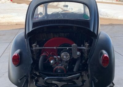 rear of 1964 VW Bug with engine